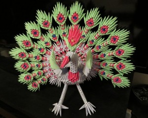 paon origami 3d