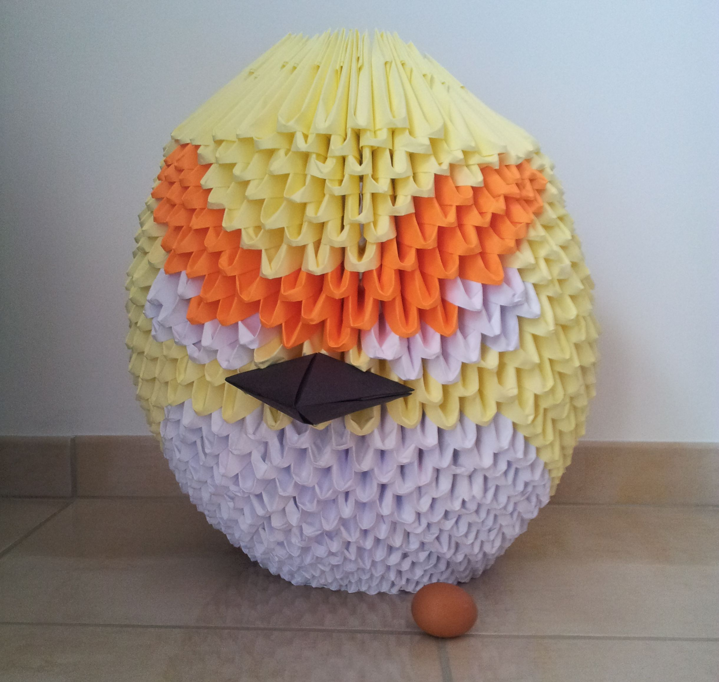 Un Angry Birds géant en Origami 3D