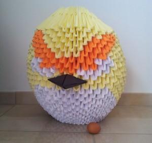 angry birds origami 3d géant